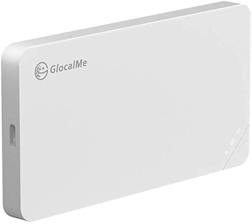 GlocalMe U3 Mobile Hotspot,Wireless Portable WiFi for Travel in 140+ Countries,No SIM Card Needed,Smart Local Network Auto-Selection,High Speed WiFi with US 8GB & Global 1GB Data, Pocket MIFI (White)