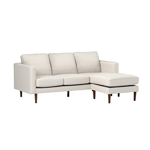 Amazon Brand – Rivet Revolve Modern Upholstered Sofa with Reversible Sectional Chaise, 80'W, Linen