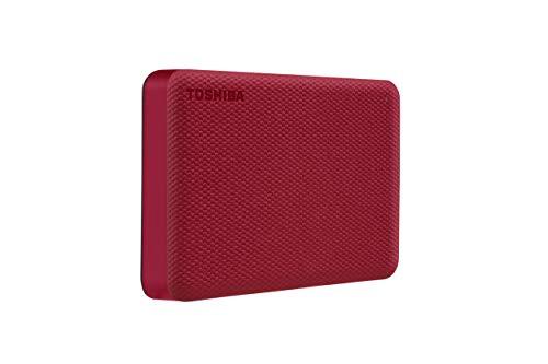 Toshiba Canvio Advance 4TB Portable External Hard Drive USB 3.0, Red - HDTCA40XR3CA