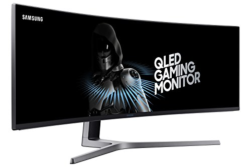 SAMSUNG 49-Inch CHG90 144Hz Curved Gaming Monitor (LC49HG90DMNXZA) – Super Ultrawide Screen QLED Computer Monitor, 3840 x 1080p Resolution, 1ms Response, FreeSync 2 with HDR,Black
