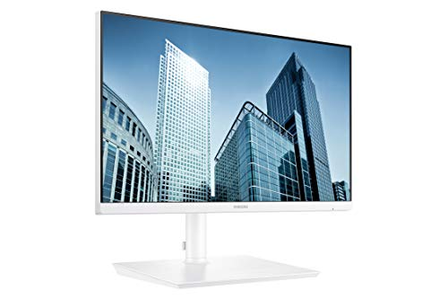 Samsung Business SH850 Series 24 Inch QHD 2560x1440 Desktop Monitor for Business (in White) with USB-C, HDMI, DisplayPort, 3-Year Warranty, TAA (S24H851QFN)