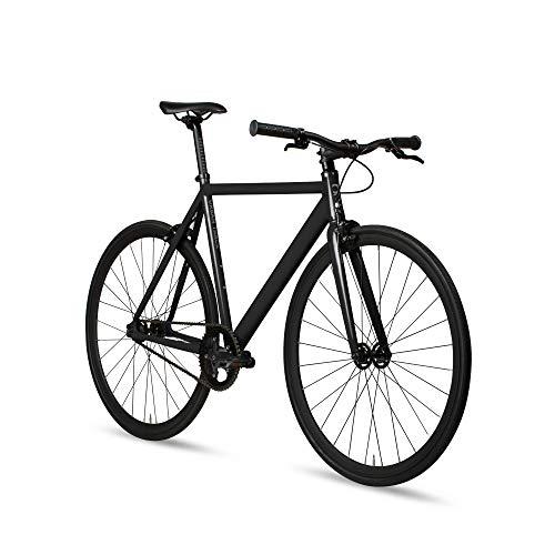 6KU Aluminum Fixed Gear Single-Speed Fixie Urban Track Bike, Shadow Blacke, 58cm/L