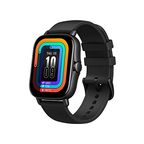 Amazfit GTS 2 Smartwatch for Android Phone iPhone, with Alexa Built-In, GPS Fitness Watch for Men Women, 7-Day Battery Life, 90 Sports Modes, Blood Oxygen Heart Rate Tracking, Waterproof, Black