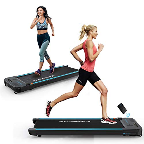 CITYSPORTS Treadmills for Home, Under Desk Treadmill Walking Pad Treadmill with Audio Speakers, Slim & Portable Treadmill with Remote & Dual LED Display, Office & Home Treadmills