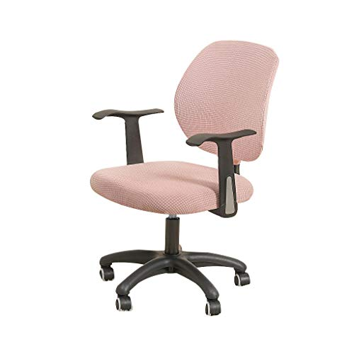 FORCHEER Pink Office Chair Cover Water Resistant Stretch Jacquard Elastic Covers 2 Piece for Desk Computer Chair Slipcover Stretchable
