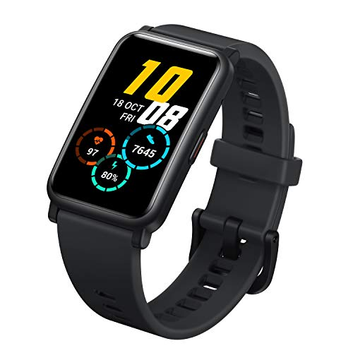 Honor Watch ES Smart Watch, 1.64' AMOLED 5ATM Waterproof 10 Days Standby Smart Bracelet with Bluetooth 30mm Fitness Tracker Activity Tracker (Black)