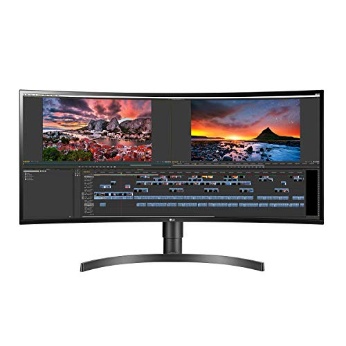 LG 34WN80C-B 34 inch 21:9 Curved UltraWide WQHD IPS Monitor with USB Type-C Connectivity sRGB 99 Percentage Color Gamut and HDR10 Compatibility, Black