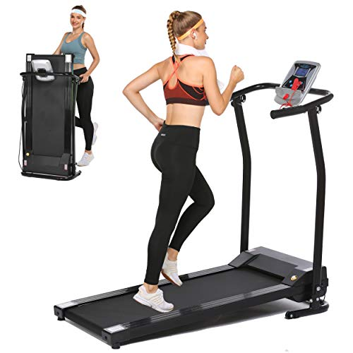 Aceshin Folding Treadmill Electric Running Machine Auto Stop Safety Function Treadmill with LCD Monitor Running Walking Jogging Exercise Fitness Machine for Home Gym