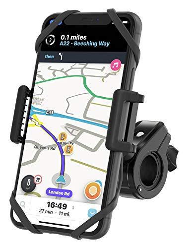 TruActive Unbreakable Bike Phone Mount Holder, Motorcycle Phone Mount, Cell Phone Holder for Bike - Universal, Bike Phone Holder, Golf, ATV - 6 Color Bands - Any Phone or Handlebar, Tool Free Install