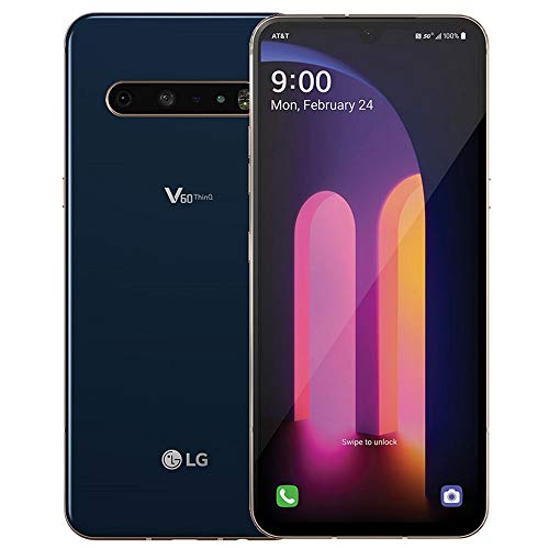 LG V60 ThinQ 5G LM-V600AM 128GB GSM Unlocked 6.8' P-OLED DisplayTriple 64MP+13MP+0.3MP Camera Phone Classy Blue
