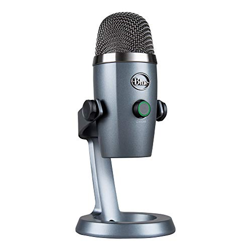 Blue Yeti Nano USB Microphone for PC & Mac, Gaming, Streaming and Recording Microphone, Condenser Mic with Blue VO!CE Effects, Multiple Pickup Patterns & No-Latency Monitoring - Shadow Grey