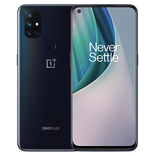 OnePlus Nord N10 5G (128GB, 6GB) 6.49', 90Hz Refresh Rate, Snapdragon 690, Dual SIM (Euro 5G /Global 4G LTE) GSM Unlocked (T-Mobile, AT&T, Metro) International Model (Midnight Ice, 64GB SD Bundle)