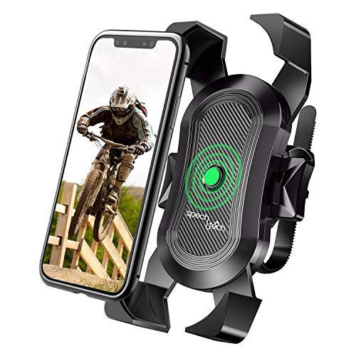 Cell Phone Holder for Bike Handlebar - Compatible withUniversal Smartphone - Premium Grade Mount forSport Bicycles and Motorcycles - Anti Shake and Safe for Bumpy Road Ways
