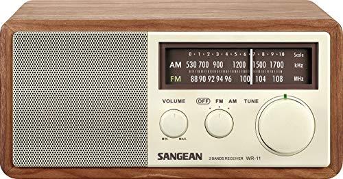 Sangean WR-11 Wood Cabinet AM/FM Table Top Analog Radio Wooden