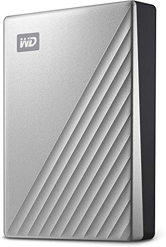 WD 4TB My Passport Ultra for Mac Silver Portable External Hard Drive HDD, USB-C and USB 3.1 Compatible - WDBPMV0040BSL-WESN