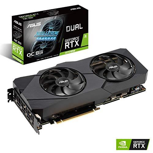 ASUS GeForce RTX 2070 Super Overclocked 8G EVO GDDR6 Dual-Fan Edition VR Ready HDMI DisplayPort Gaming Graphics Card (DUAL-RTX-2070S-O8G-EVO)