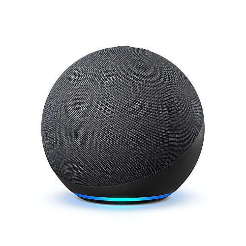 Certified Refurbished Echo (4th Gen) | With premium sound, smart home hub, and Alexa | Charcoal