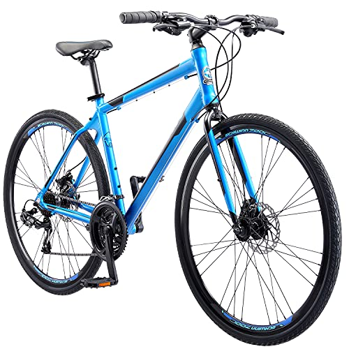 Schwinn Volare 1200 Adult Hybrid Road Bike, 28-inch wheel, aluminum frame, Matte Blue