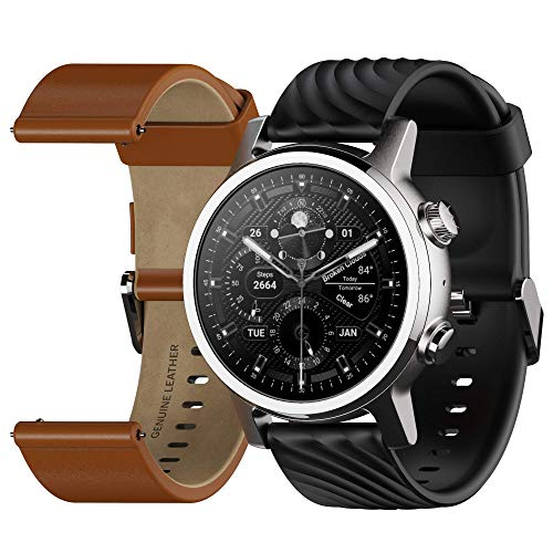 Moto 360 3rd Gen 2020 - Wear OS by Google - Touch Screen - Luxury Stainless Steel Smartwatch - Genuine Leather and High-Impact Sports Bands - Steel Grey