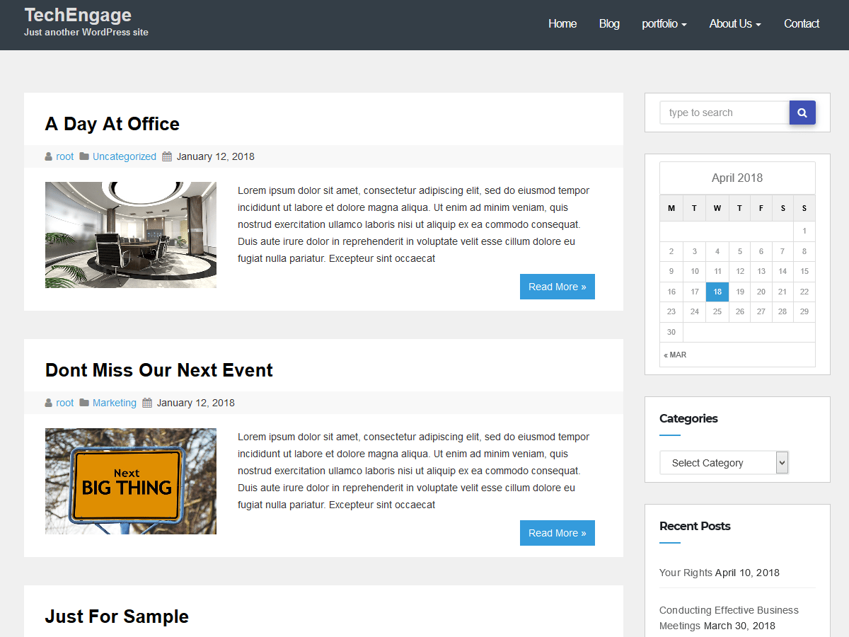TechEngage WordPress Theme