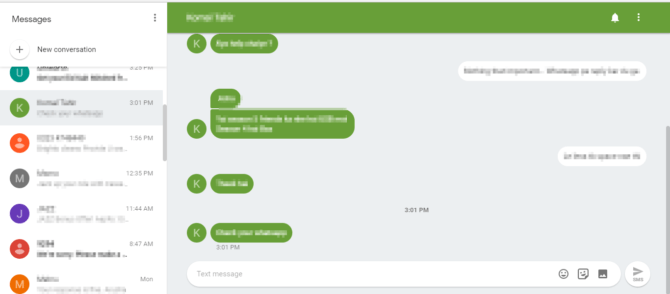 Android Messages Web review