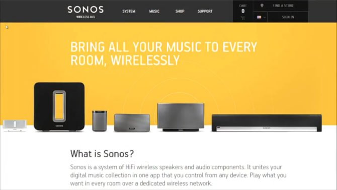 The Sonos PLAY series.
