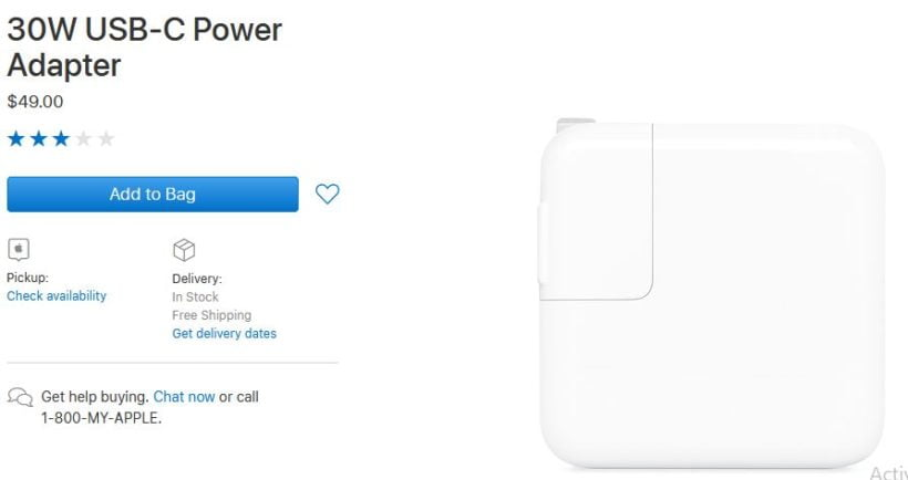 30W USB Power Adapter Apple