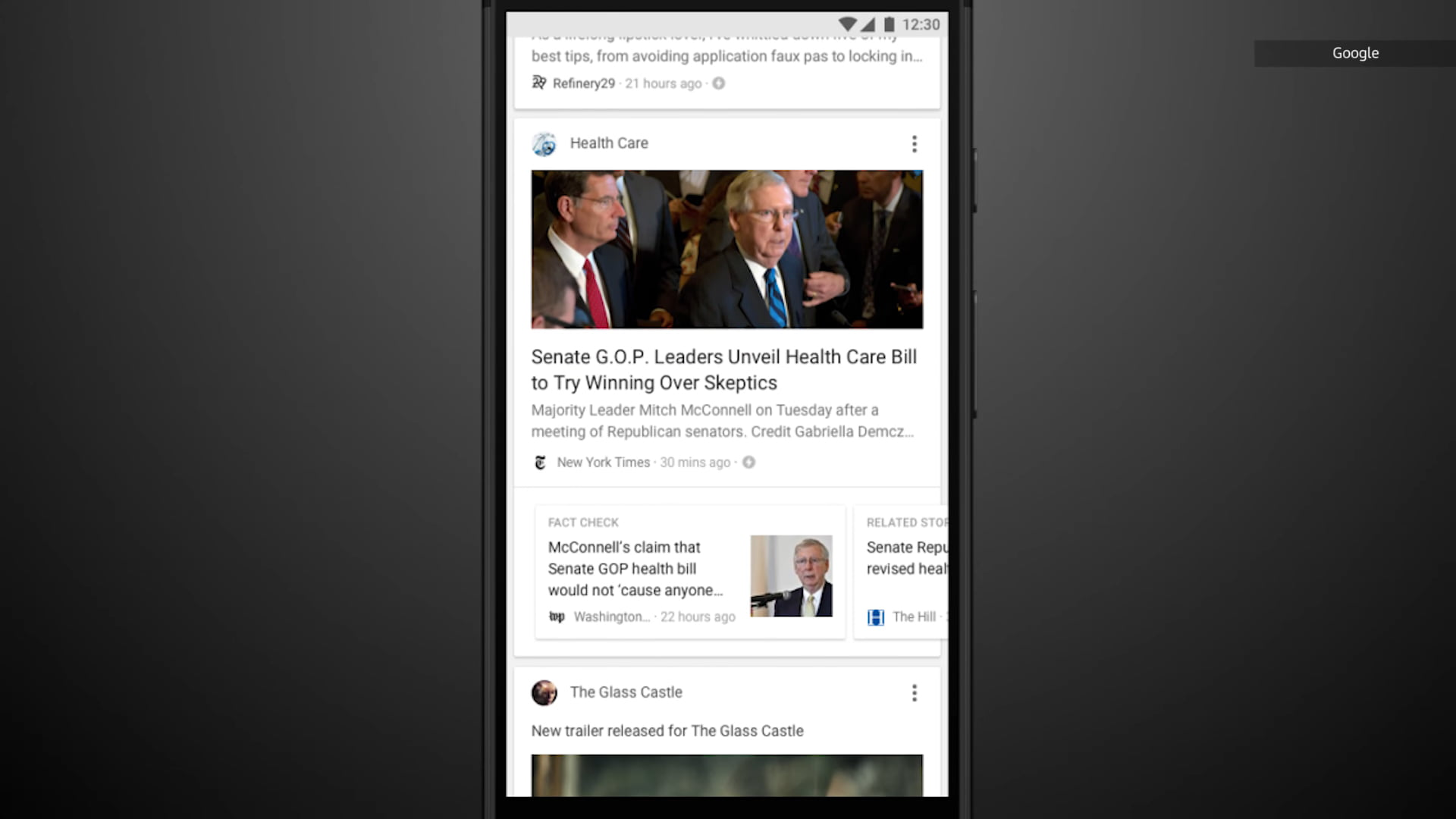 Google's news feed 'Discover' will now be available on phone browsers