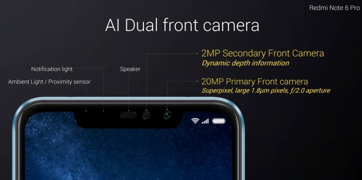 Note 6 Pro AI Dual front camera