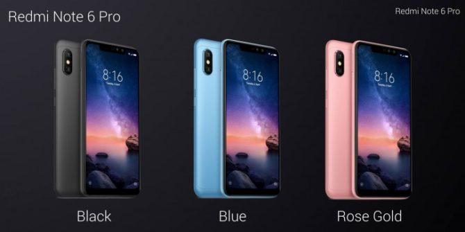 Note 6 Pro colors