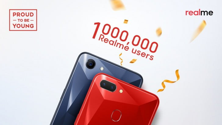 Oppo's Realme reached 1 million milestone