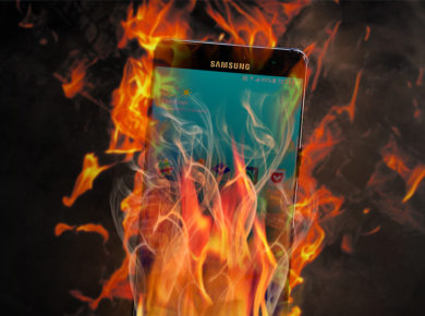 Samsung Note catches fire again