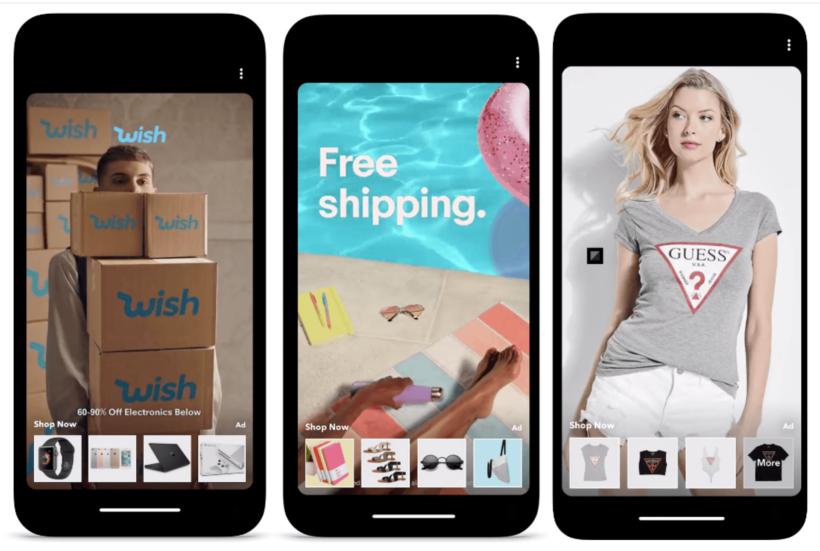 Snapchat ecommerce ads