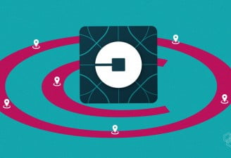 illustration with uber logo