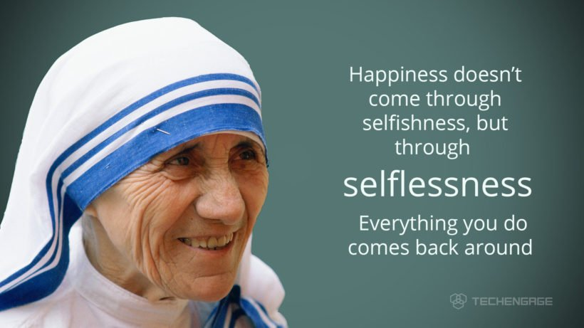 Selflessness Mother Teresa