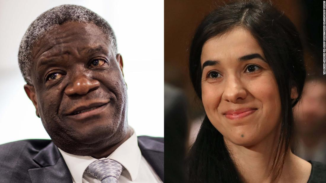 Nadia Murad and Denis Mukwege win Nobel Peace Prize for fighting sexual violence