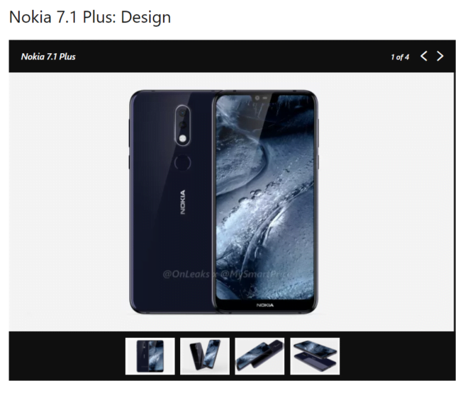 Nokia 7.1 Plus early leak
