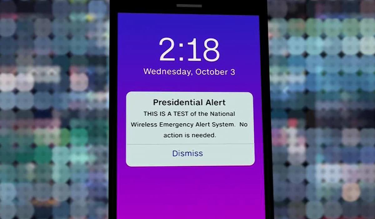 presidential alert message