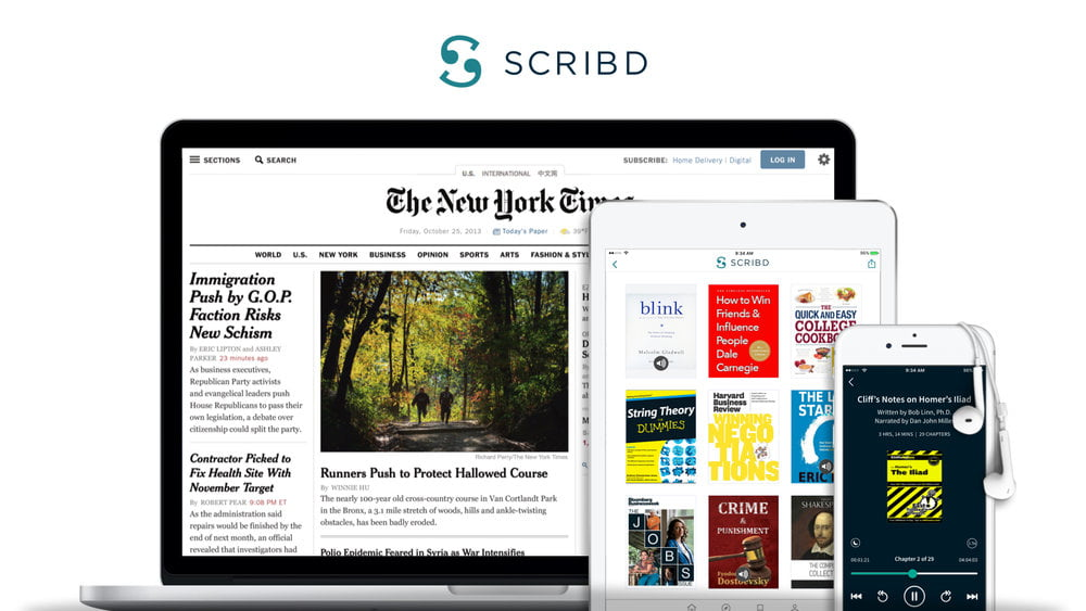 New York Times joins with Scribd to offer an economical subscription bundle