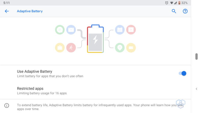 adaptive battery screenshot