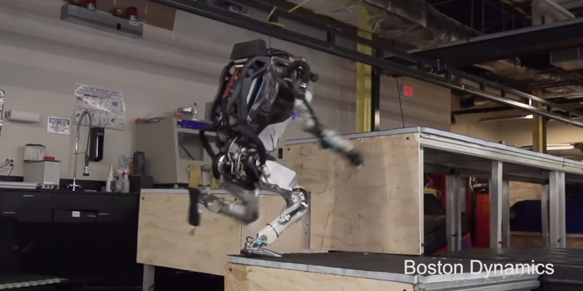 atlas robot by boston dynamics
