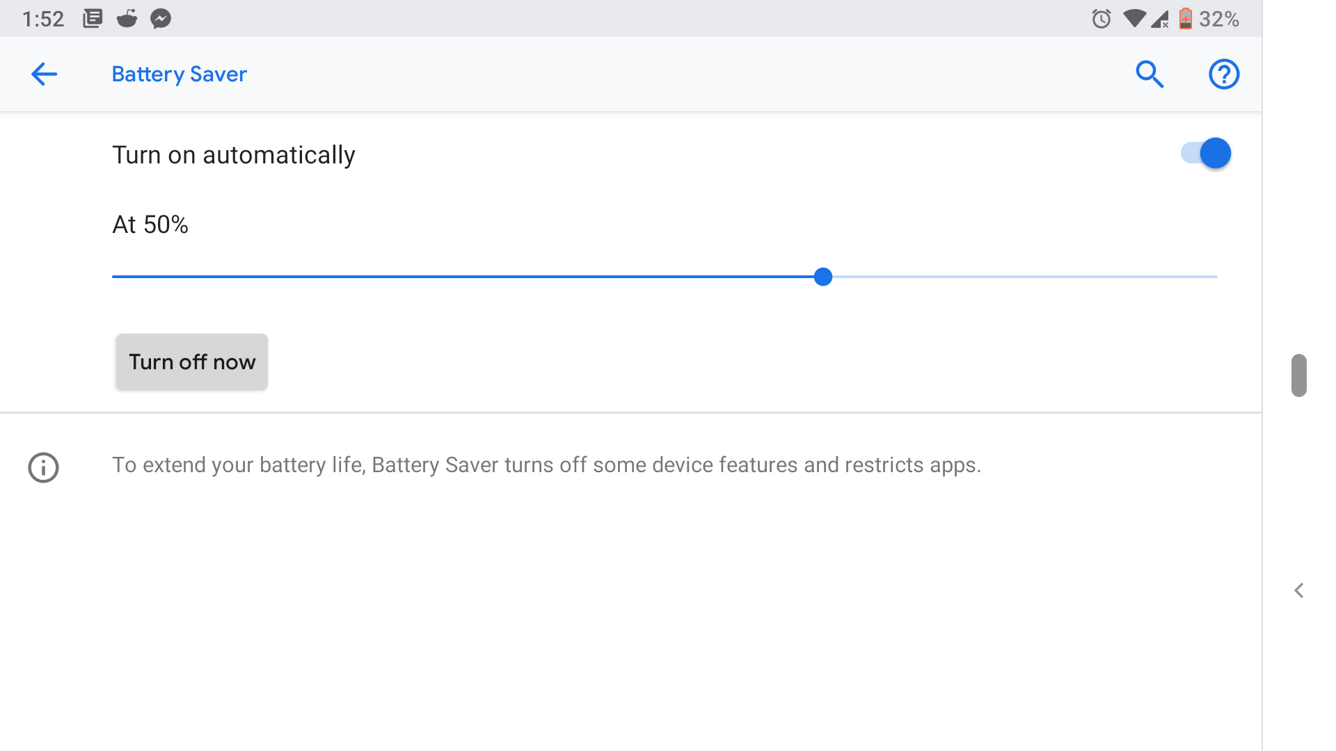 android battery life