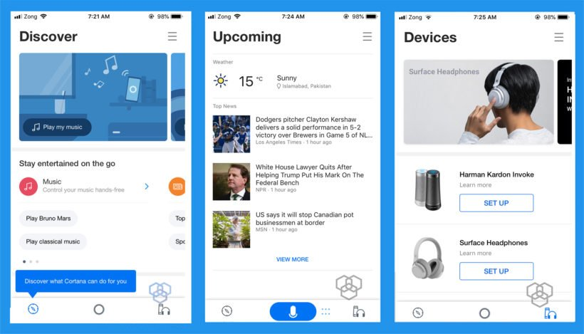 cortana redesign ios android techengage