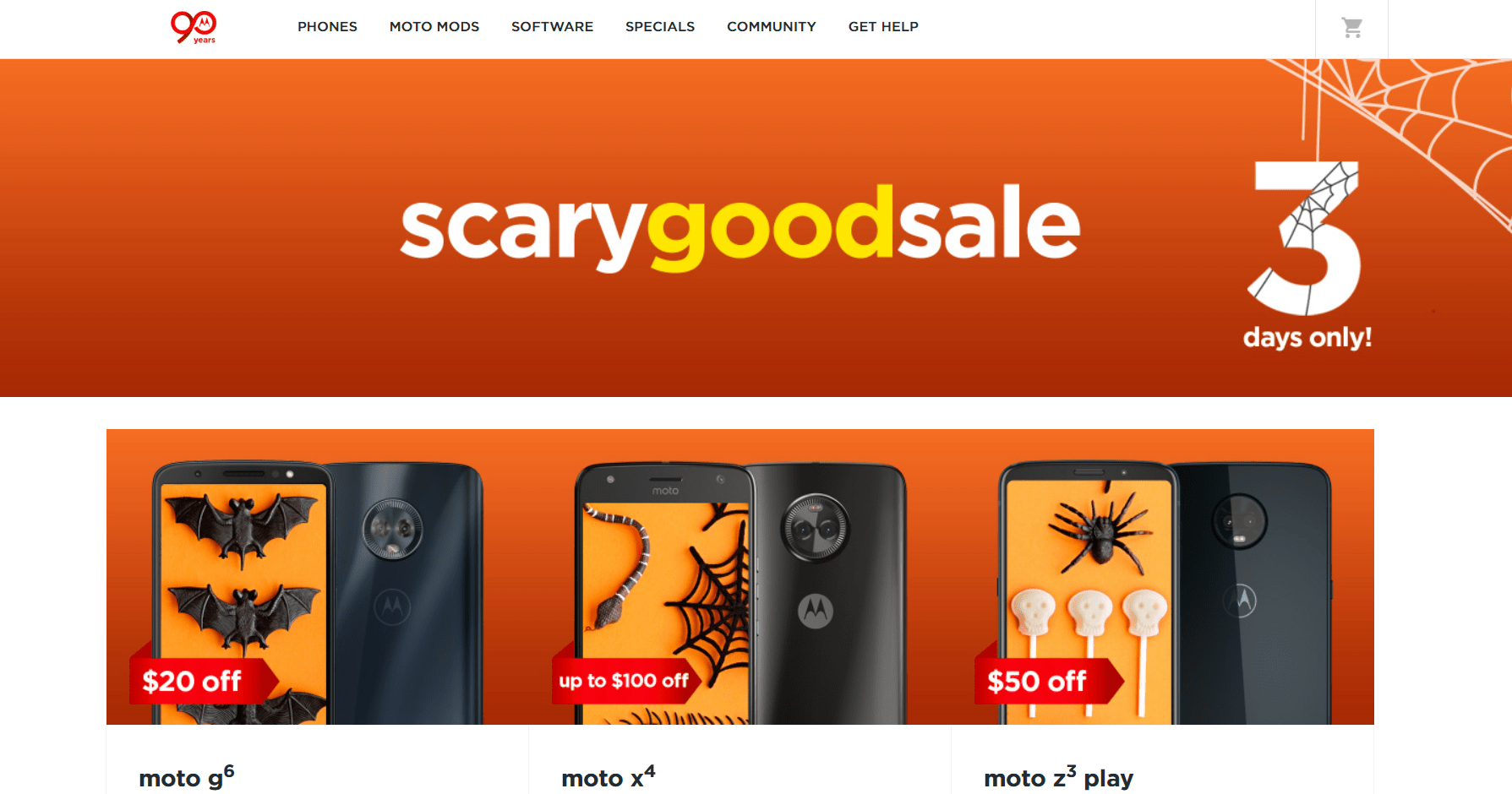 Motorola puts up some scary good deals for Halloween