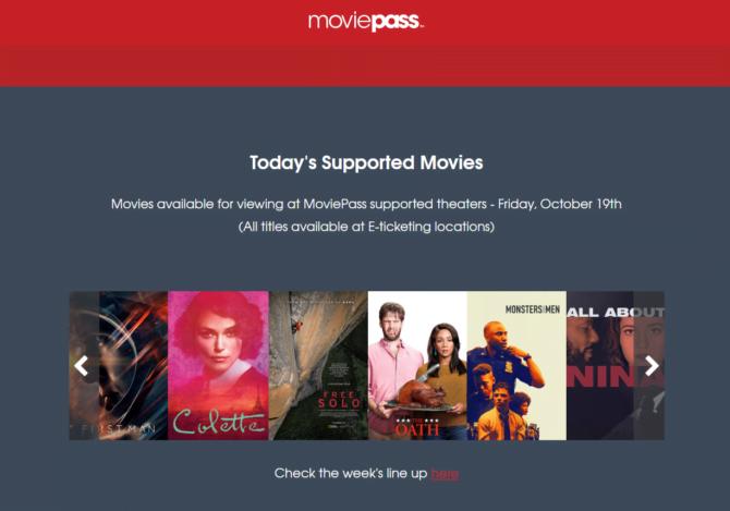 moviepass subscription service