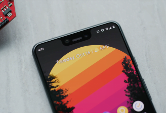 google pixel 3 xl selfie camera, display