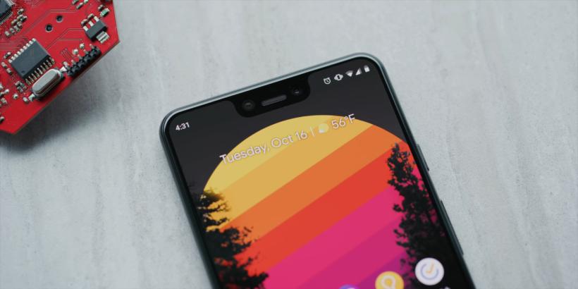 google pixel 3 xl selfie camera, display
