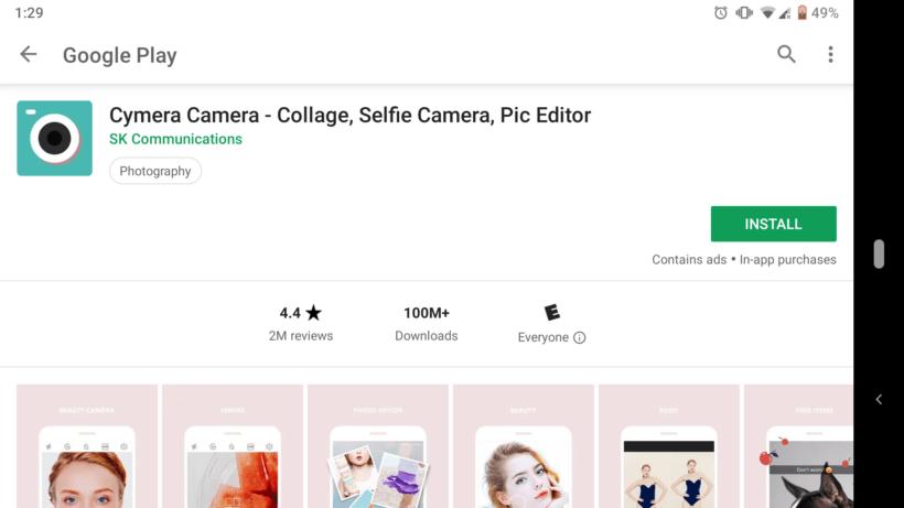 best selfie app android