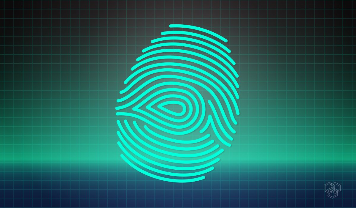 Image Contains illustration of Digital Fingerprint Representing AI can Hack into Biometrics