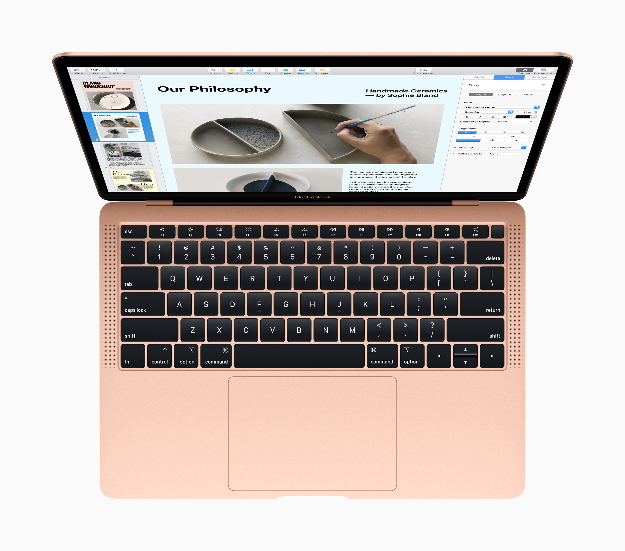 macbook air 2018 review,keyboard and trackpad